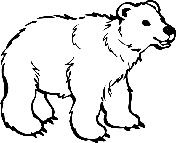 Free Bear Black and White Clipart