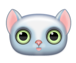 Free Blue Cat Clipart