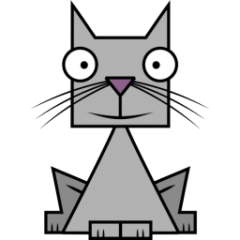 Free Gray Cat Clipart