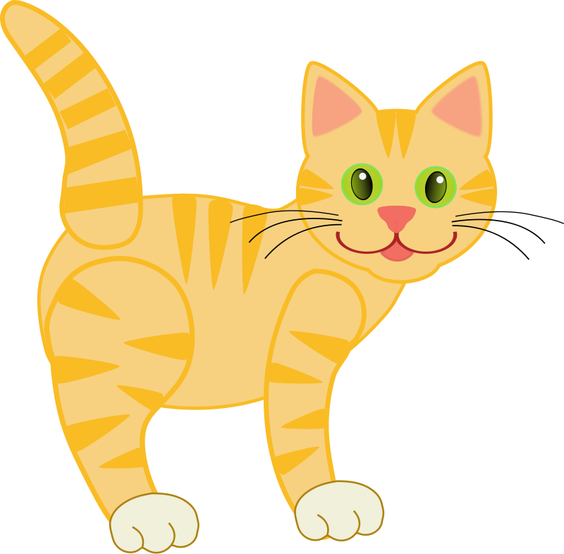 Free Ginger Cat Clipart