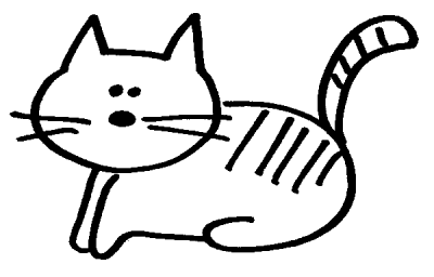 Free Cat Coloring Page Clipart