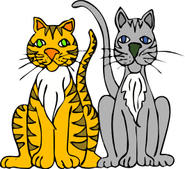 Free Striped Cat Clipart
