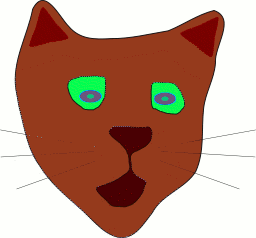 Free Brown Cat Clipart