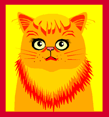 Free Yellow Cat Clipart