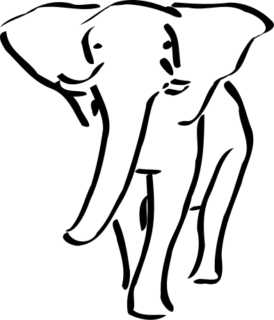 Free Charging Elephant Clipart