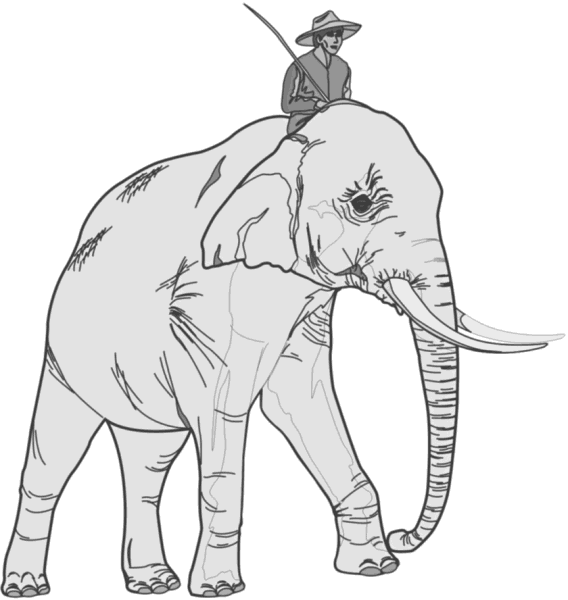 Free African Elephant Clipart