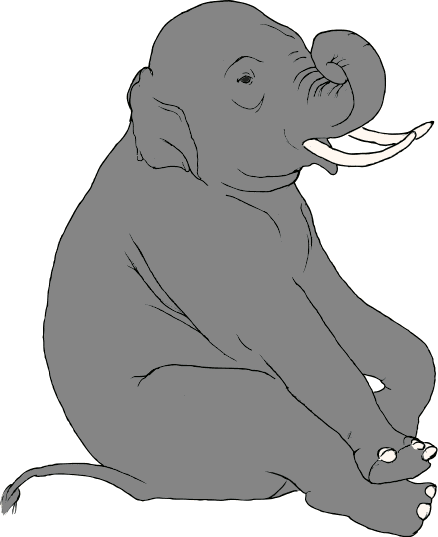 Free Asian Elephant Clipart, 1 page of free to use images