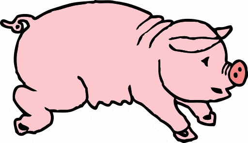 Free Fat Pig Clipart
