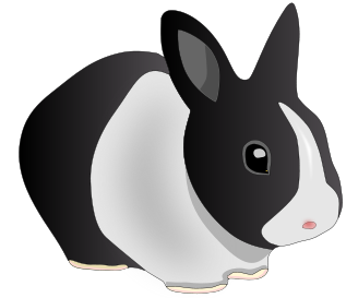 Free Pet Rabbit Clipart
