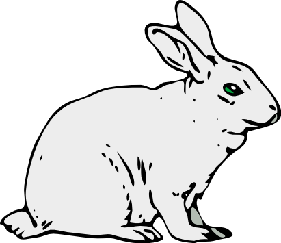 Free White Rabbit Clipart