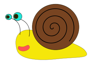 Free Cartoon Snail Clipart