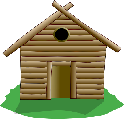 Free Log House Clipart