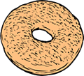 Free Bagel Clipart