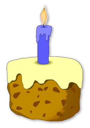 Free  Birthday Candle Clipart