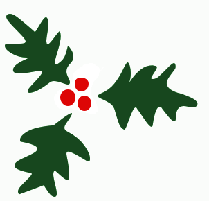 Free Christmas Holly Clipart
