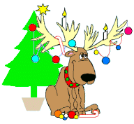 Free Christmas Animals Clipart