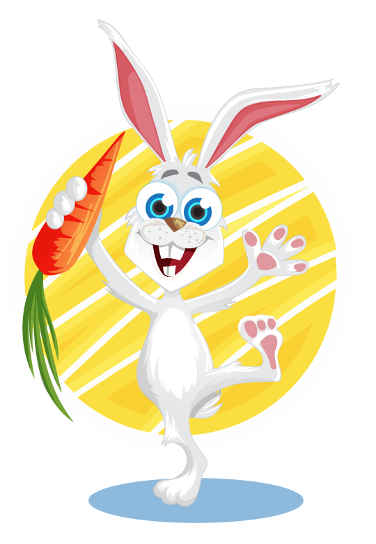 Free Bunny with Carrot Clipart
