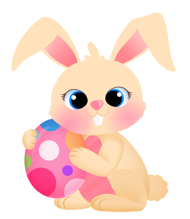 Free Easter Bunny and Eggs Clipart