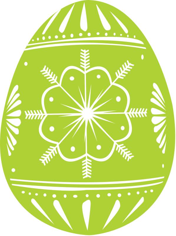 Free Easter Colored Egg Clipart