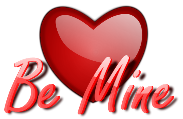 Free Be Mine Clipart