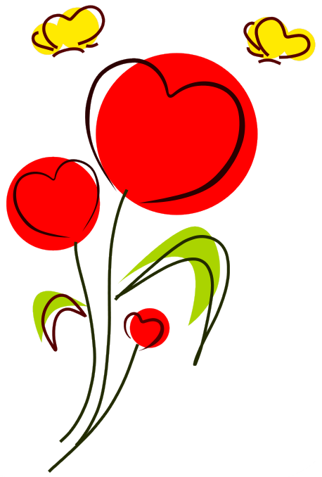 Free Valentine Flowers Clipart