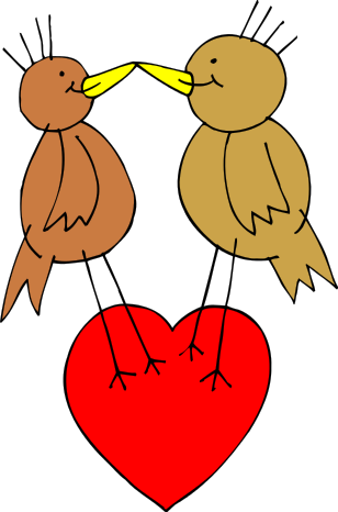Free Love Birds Clipart