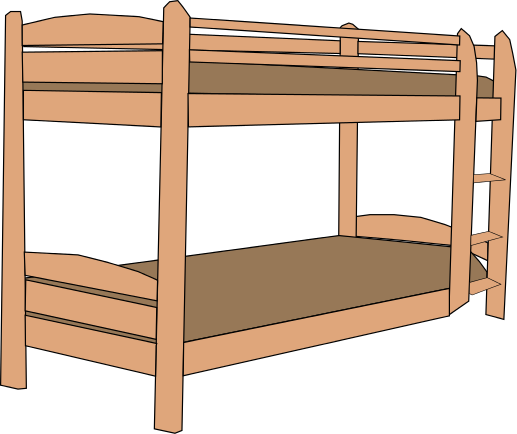 Free Bunk Bed Clipart