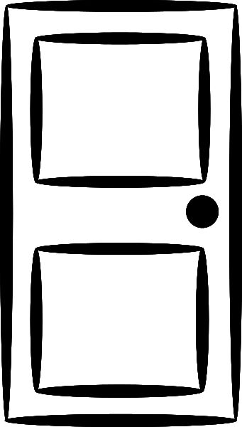 Free Black And White Door Clipart