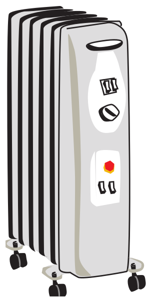 Free Radiator Clipart - Clip Art Image 4 of 4 Vacuum Clipart Black And White